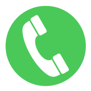 Icono telefono en blanco sobre fondo verde 1