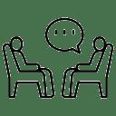 Dos personas conversando